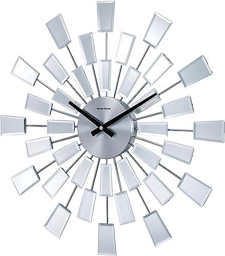 Telechron Beveled Pixel Clock, Silver
