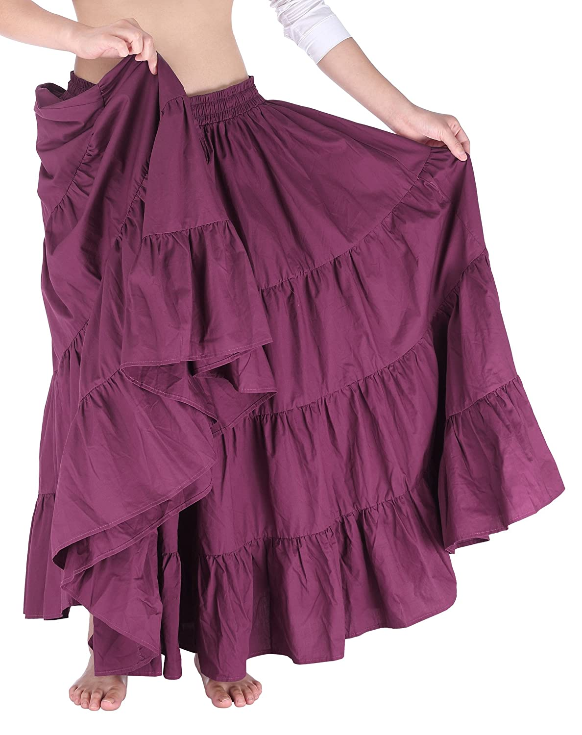 7ad6a124d3 One Size: Waist:30~46 inch; Skirt Length:36.5 inch. Features: Waistline is  well elastic; Draw string around waist; Comfortable cotton fabric; Super  wide hem