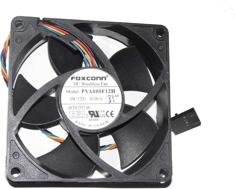 For DELL P/N:725Y7 Case Fan ,PVA080F12H AUB0812HHD 12V 4Wire Cooling Fan