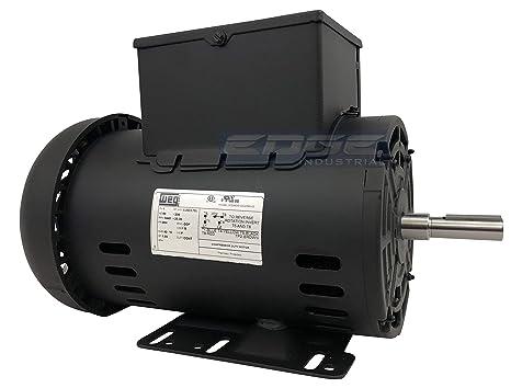 Amazon.com: Motor eléctrico 5HP para compresor de aire 56 ...