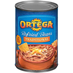 Ortega Refried Beans, Traditional, 16 Ounce (Pack of 12)