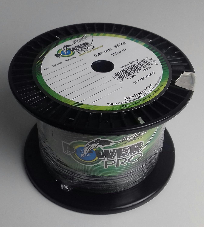 0.32mm Braided Line Made in USA PowerPro Moss Green 275m 0.06mm