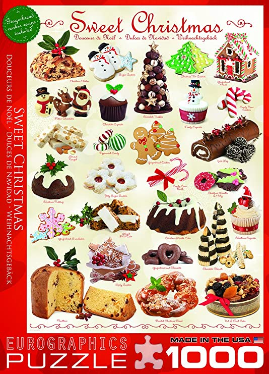 Weihnachtsgebäck Clipart.Eurographics Sweet Christmas Puzzle 1000 Pieces