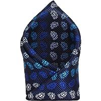 TIE ON Men's Designer Neck Pocket Square_Navy Blue
