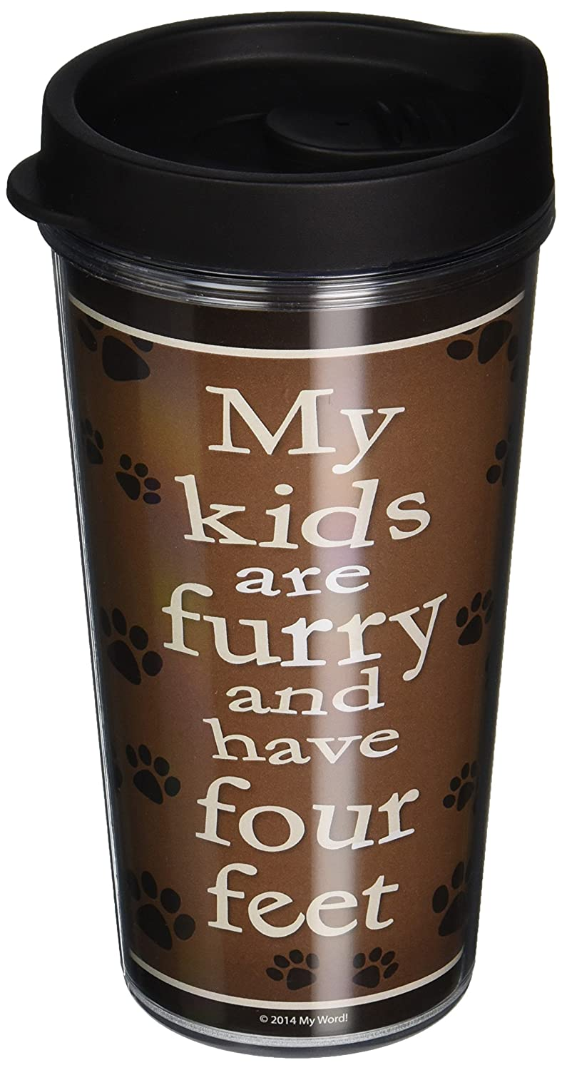 51020 My Kids are Furry Insulated Travel Mug 16 oz Multicolor My Word