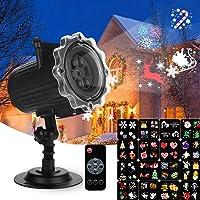 Luces de Proyector Navidad, Qxmcov Proyector Halloween, Lámpara de Proyección Decoracion Navidad para Exteriores e…