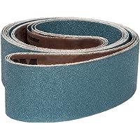 120 Grit Brown Cloth Backing 6 Width VSM 5728 Abrasive Belt Medium Grade 48 Length Pack of 10 Aluminum Oxide