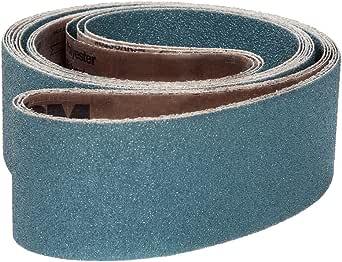 Brown Medium Grade Aluminum Oxide 6 Width 132 Length Pack of 10 100 Grit Cloth Backing VSM 88305 Abrasive Belt