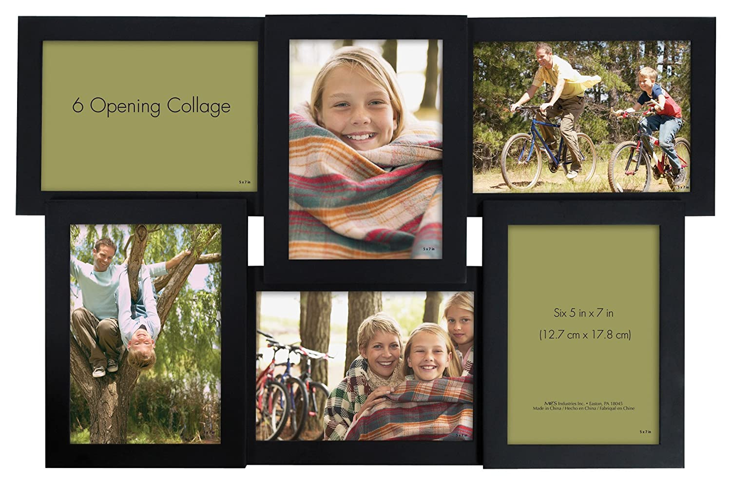 Amazon.com - MCS 21x13.5 Inch Collage Frame, Six 5x7 Inch Openings ...