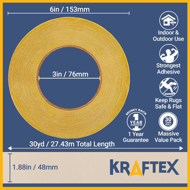 New Original Carpet Tape 90ft Roll For Rugs Mats Pads Runners