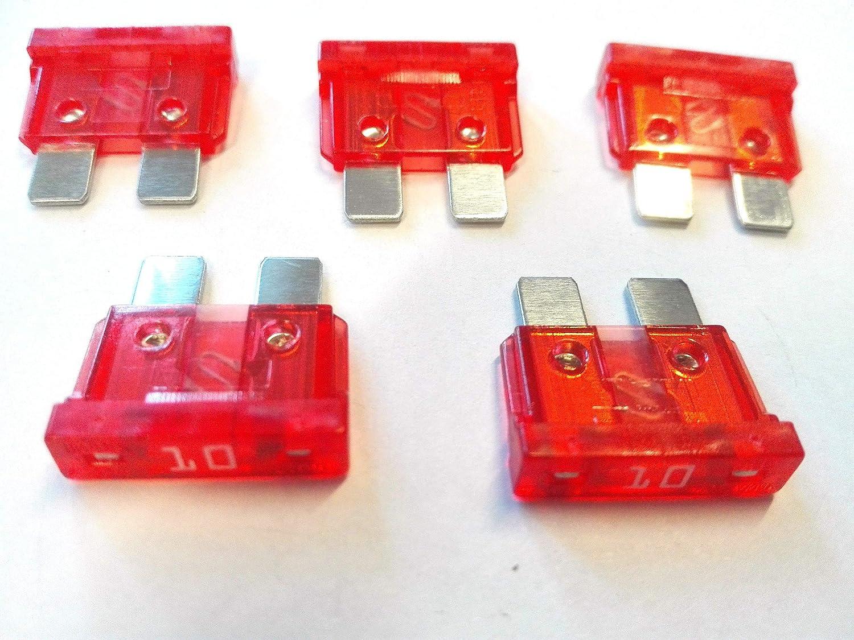 10 X Flachstecksicherung Ato Sicherung 10a 32v Rot Gewerbe Industrie Wissenschaft