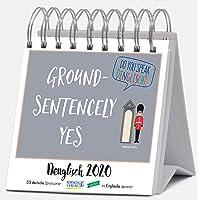Denglisch 2020: Aufstellbarer Typo-Art Postkartenkalender. Jede Woche ein neuer Spruch. Hochwertiger Wochenkalender für den Schreibtisch