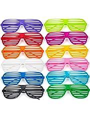 2dc96df962 Comius Gafas de Fiesta, 12 Pares Gafas de Sol de persiana para Fiestas de  Juguete