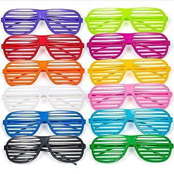 Comius Gafas de Fiesta, 12 Pares Gafas de Sol de persiana para Fiestas de Juguete Gafas de Sol Disfraz Gafas de Persiana para Fiesta Disfraces