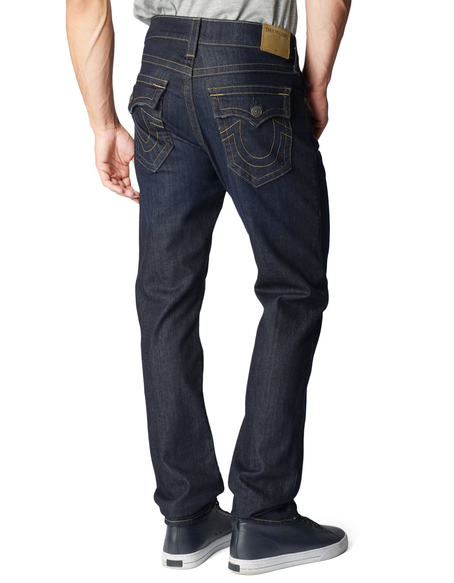 True Religion Men's Geno W Flap Slim Jean, Wanted Man, 40 by True Religion (Image #2)
