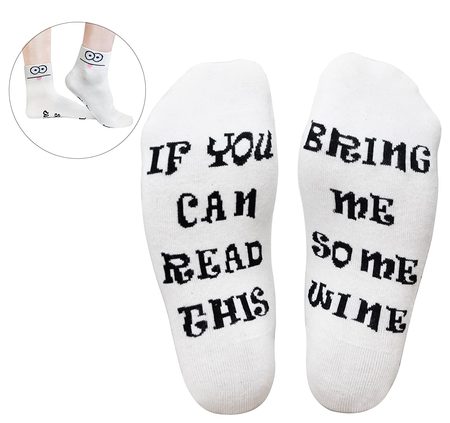 White GoldWorld Novelty Cotton Wine Socks Birthday Gifts For Women Mom Men W Funny Saying If