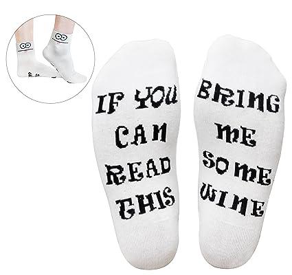 GoldWorld Novelty Cotton Wine Socks Birthday Gifts For Women Mom Men W Funny