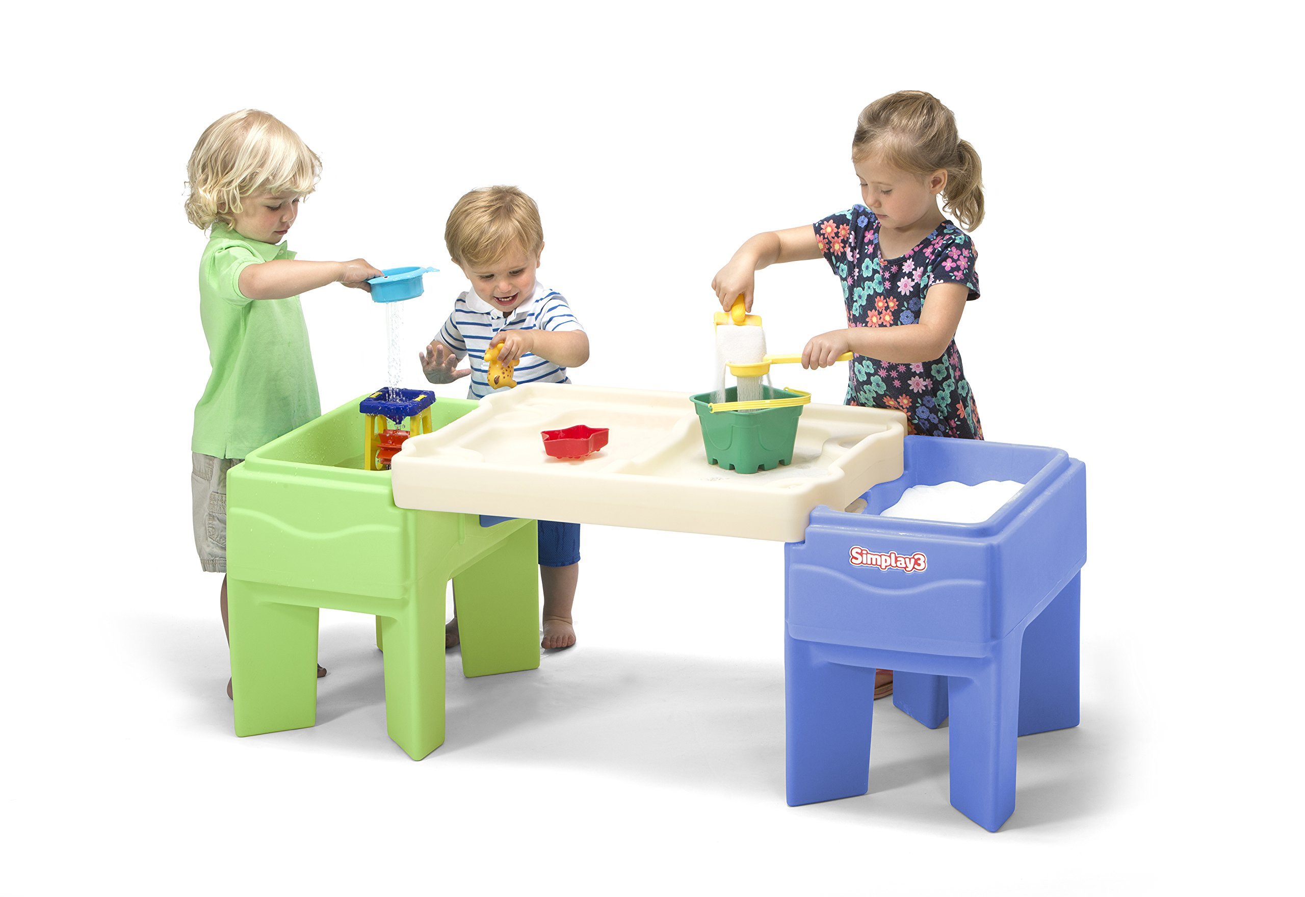 Simplay3 Indoor Outdoor Sand and Water Activity Table with Storage