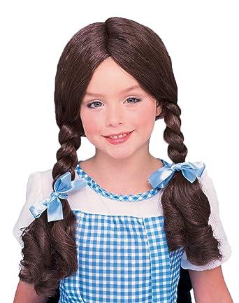 Amazon.com: uhc de niña de Dorothy peluca mago de Oz coletas ...
