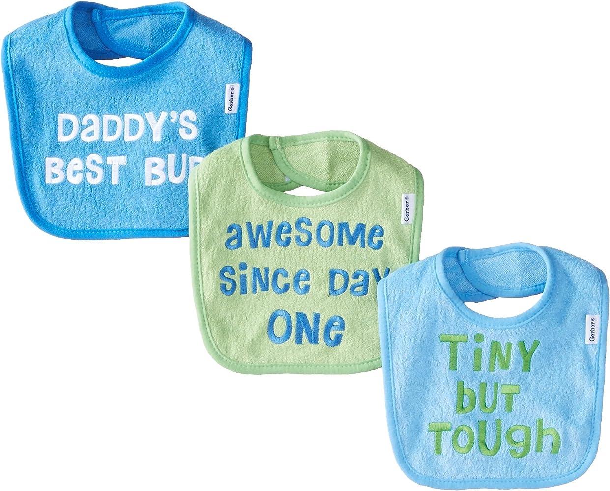 Gerber Baby Baberos de rizo para niños (3 unidades) - - talla ...
