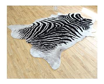 decoweb tapis peau de bte imitation zbre 140 x 200 cm - Tapis Peau