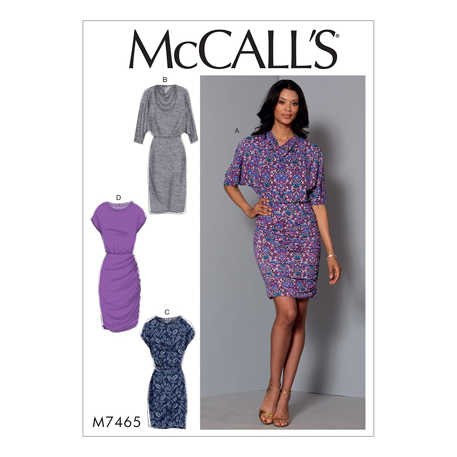 McCall's Patterns A5 Misses Dresses, Multi-Colour, Sizes 6-14 The McCall Pattern Company M7465A50