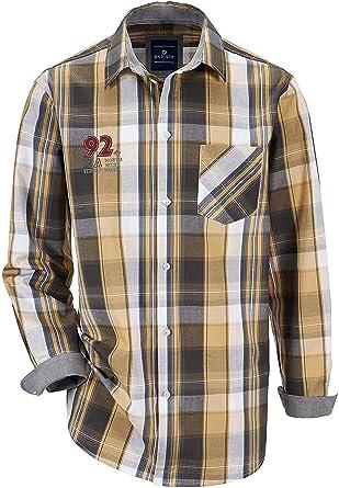 BABISTA Camisa Hombre Camisa Casual en Gris Braun de Cuadros XXXL: Amazon.es: Ropa y accesorios