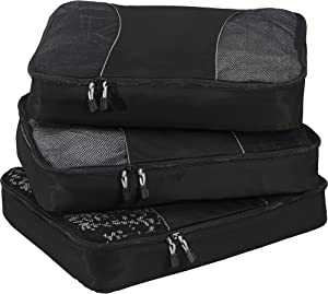 eBags Classic Large 3pc Packing Cubes (Black)