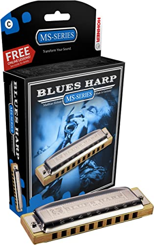 Hohner 532BXC Blues Harp MS Modular System Diatonic Harmonica, C-major
