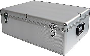 Diseño de maletín de aluminio para 1000 DVD/CD/BluRay 1000 DJ BOX/funda para CD y DVD: Amazon.es: Electrónica