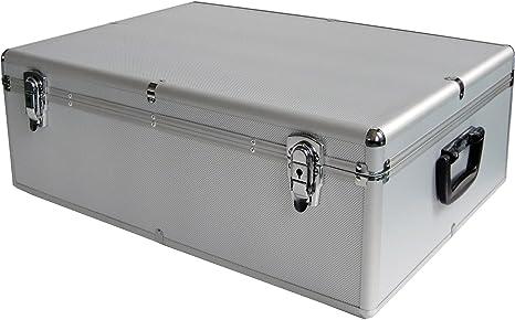 Look aluminio caja de aluminio para 800 CD/DVD/BluRay 800er DJ Box/Case para CDs DVDs: Amazon.es: Electrónica