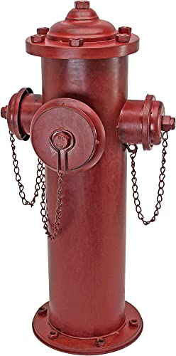 Design Toscano DC122012 Fire Hydrant Statue Puppy Pee Post and Pet Storage Container