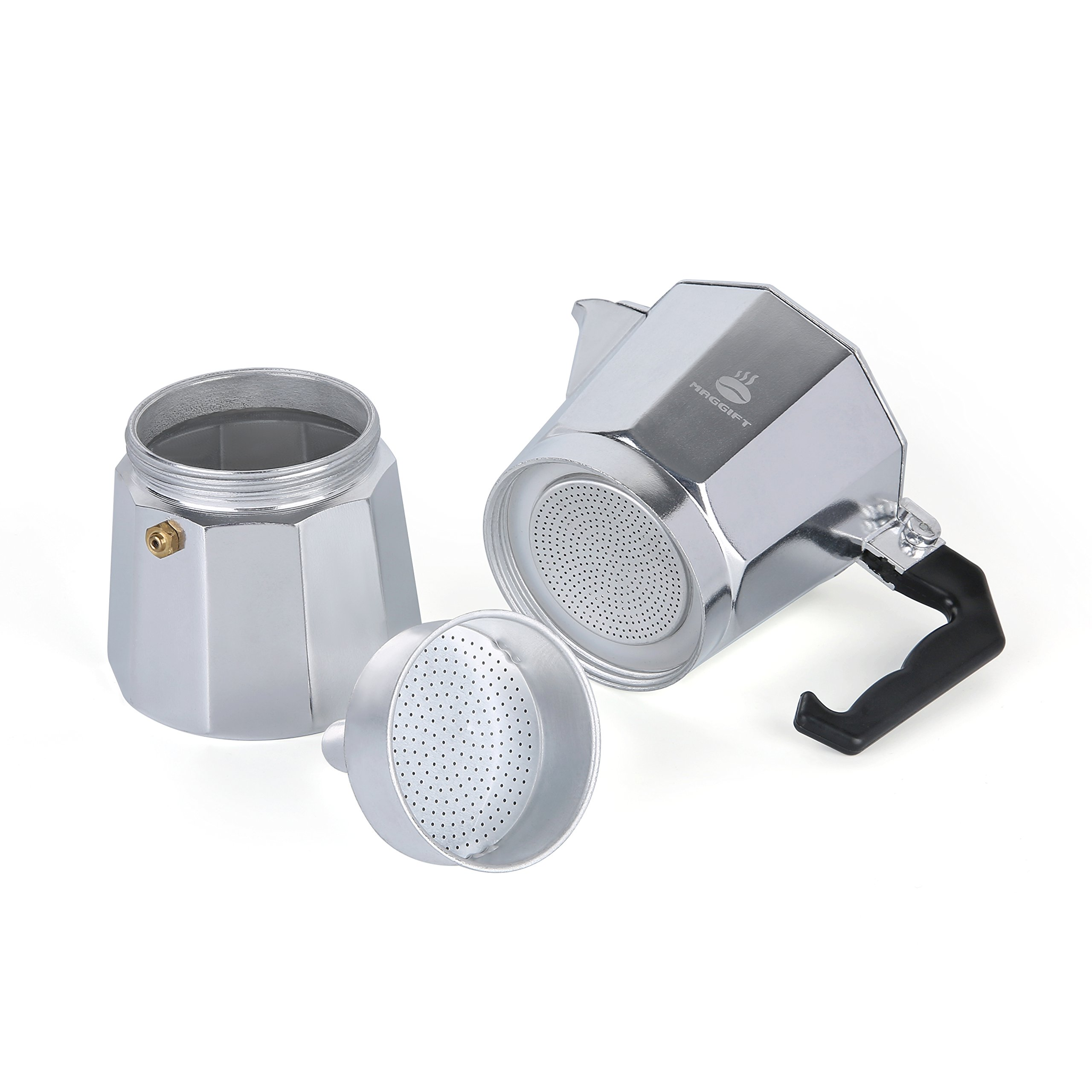 Maggift Stovetop Coffee Maker, Aluminum Italian Moka Pot (6 Cup) by Maggift (Image #3)