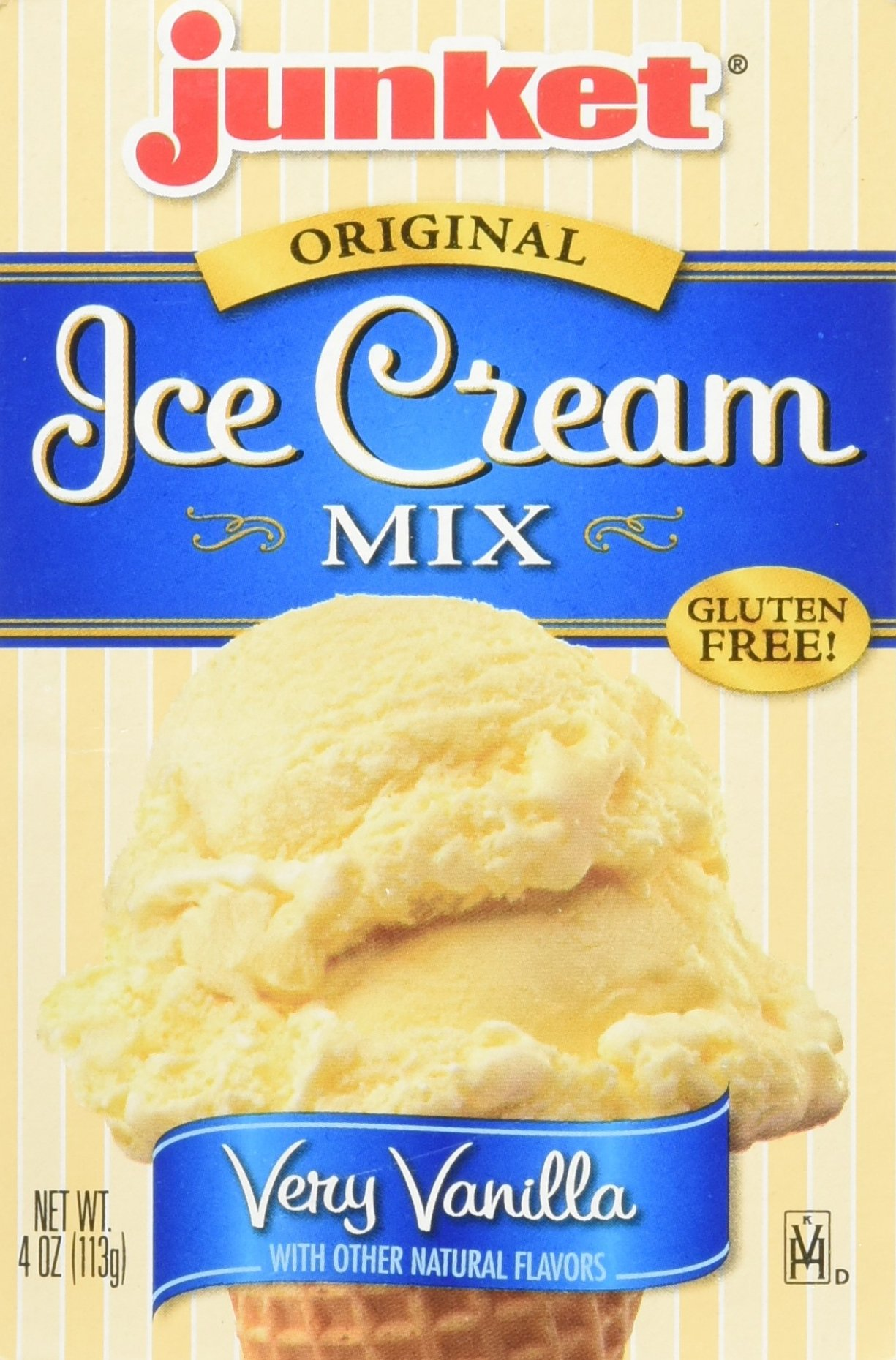 Junket Vanilla Ice Cream Mix 4-ounce (Pack of 3) by Junket