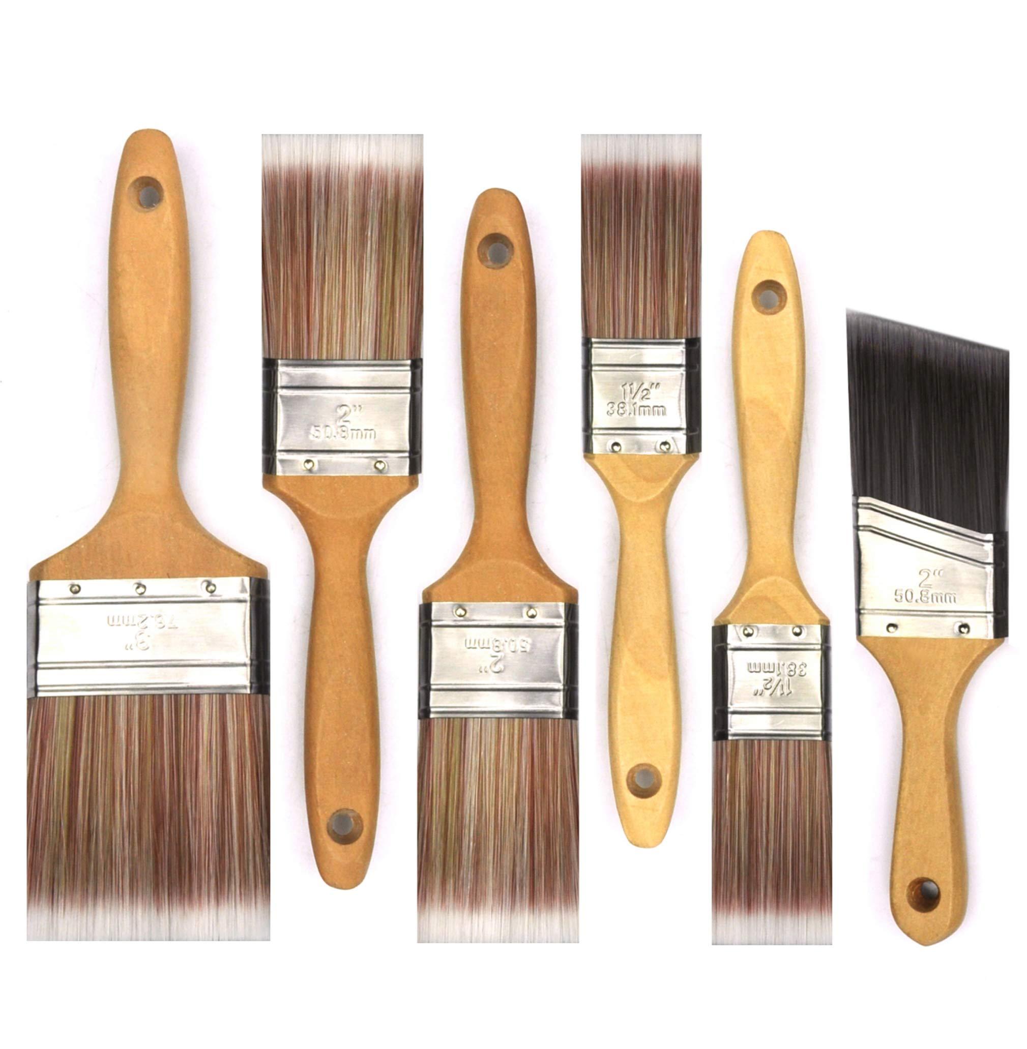 6 Piece Professional Painters SRT Paint Brush,Paint Brushes,Home Repair Tools,Paint Brush Set,Paintbrush,Wooden Handle Paint Brush,Painting Brush,Tools,Tool kit,Tool Set,Home Tool kit