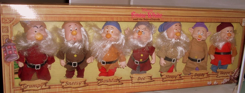 Disneys Snow White Seven Dwarfs Fully Jointed Figures by Bikin USA