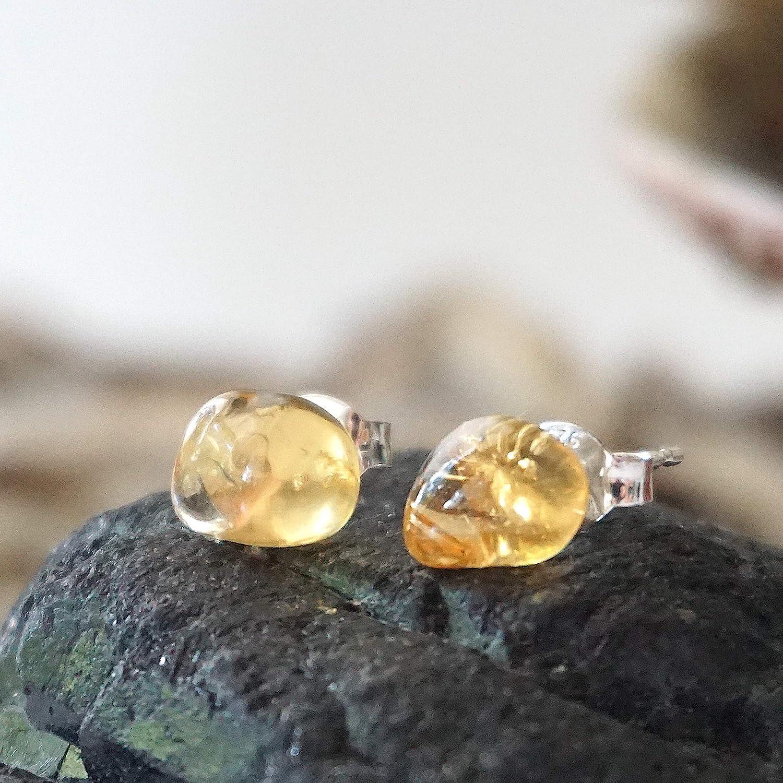November Birthstone Earrings ECB2 Raw Crystal Earrings Raw Citrine Earrings Drop Earrings Dangle Earrings Statement Earrings