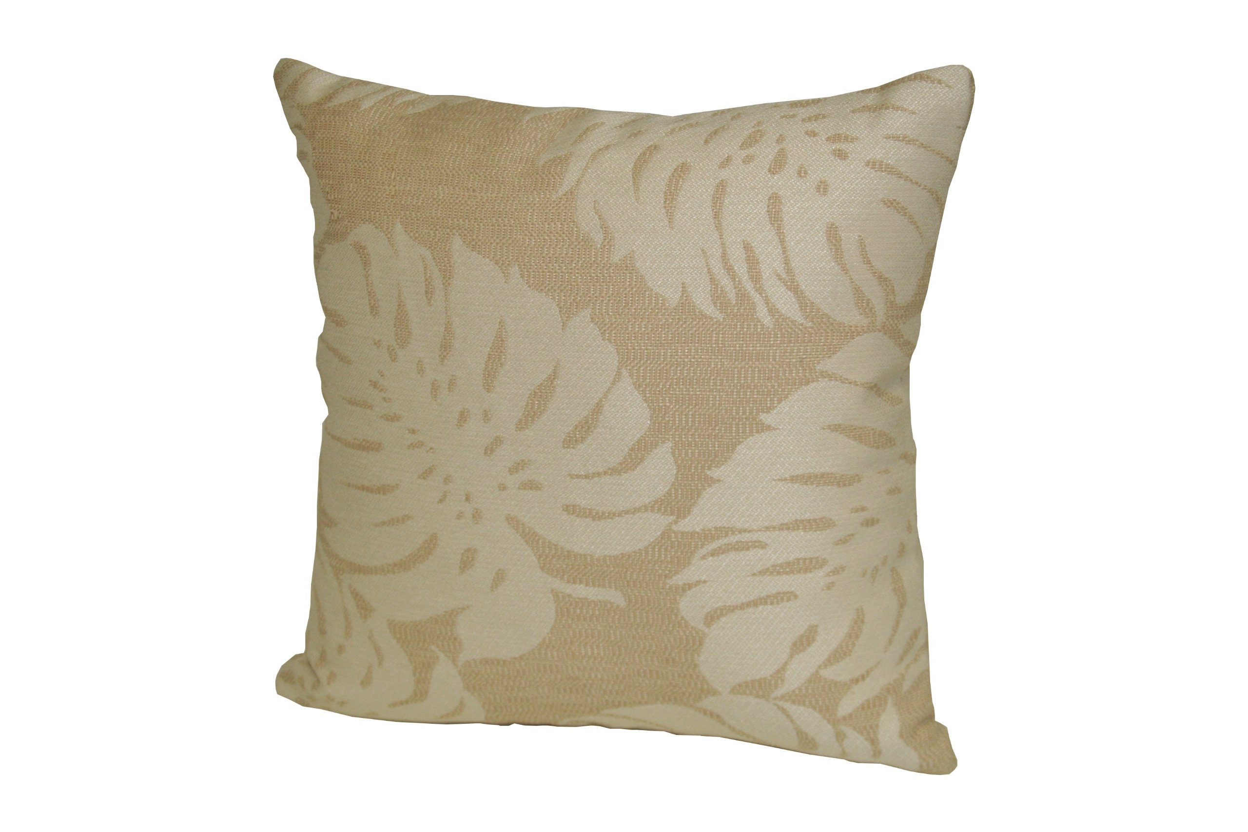 Rennie & Rose Outdoor/Indoor Fabrics Bay Palm Outdoor Stuffed Pillow, 24-Inch, Sand - Polypropylene/polyester Mildew/Fade Resistant w/resilient, washable, removable poly insert Manufactured in USA Machine Washable, Poly Fill, Hidden Zip Closure - patio, outdoor-throw-pillows, outdoor-decor - 81NuiLT1EML -