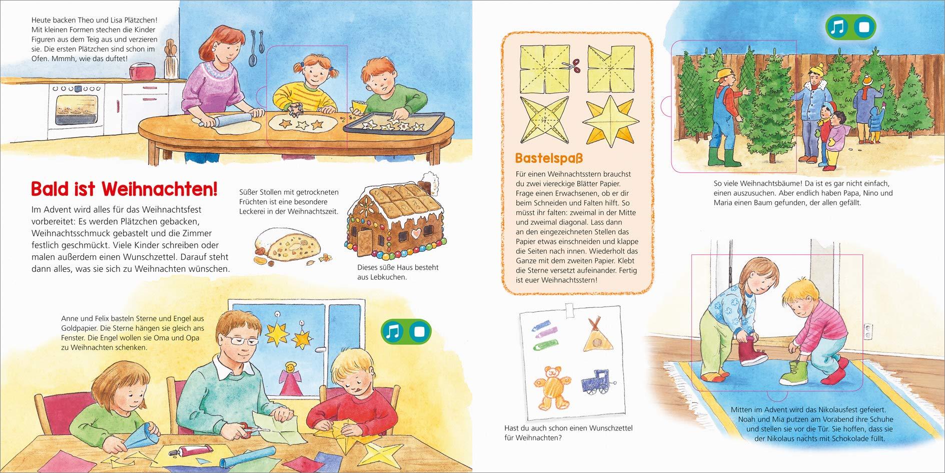 Weihnachtsbasteln Sterne Aus Goldpapier.Was Ist Was Kindergarten Frohe Weihnachten 9783788676407 Amazon