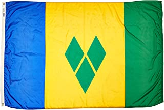 product image for Annin Flagmakers Model 197300 St. Vincent/Grenadines Flag Nylon SolarGuard NYL-Glo, 4x6 ft, 100% Made in USA to Official United Nations Design Specifications
