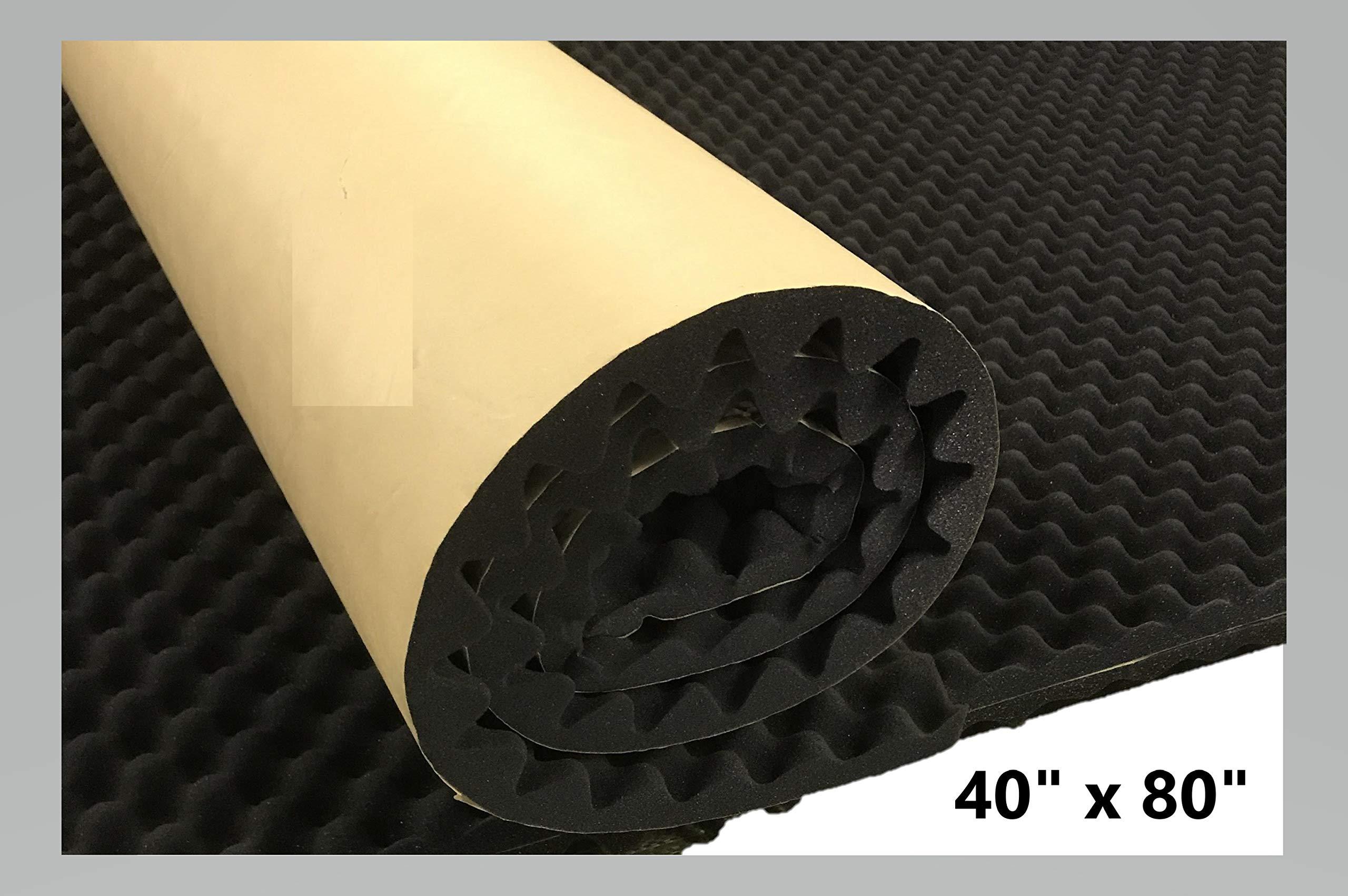 BookishBunny Self Adhesive Acoustic Foam Egg Crate Panel Studio Foam Wall Panel (40'' x 80'') by Bookishbunny (Image #1)