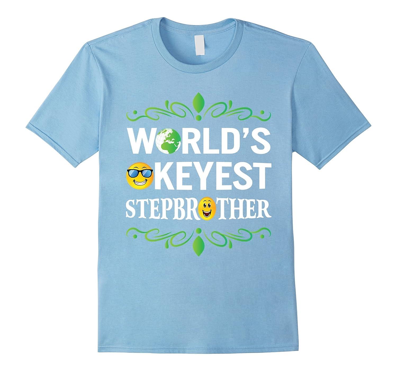 World's Okeyest Stepbrother With Cute Emoji Funny T-Shirt