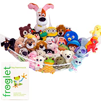 Froglet Stuffed Animal Hammock Storage   Simple Toy Organization Solutions  For Serious Collectors Of Anything Stuffed