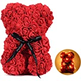 Rose Teddy Bear Valentines Day Gifts for Girlfriend Women Wife Aniversity Decorations Birthdays Bridal Shower (Red)