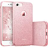 ESR iPhone 7 Cover con Brillantini/Glitters, Custodia Brillante Lucciante Luminosa [Elastica e Morbida] per Apple iPhone 7 (Oro Rosa)