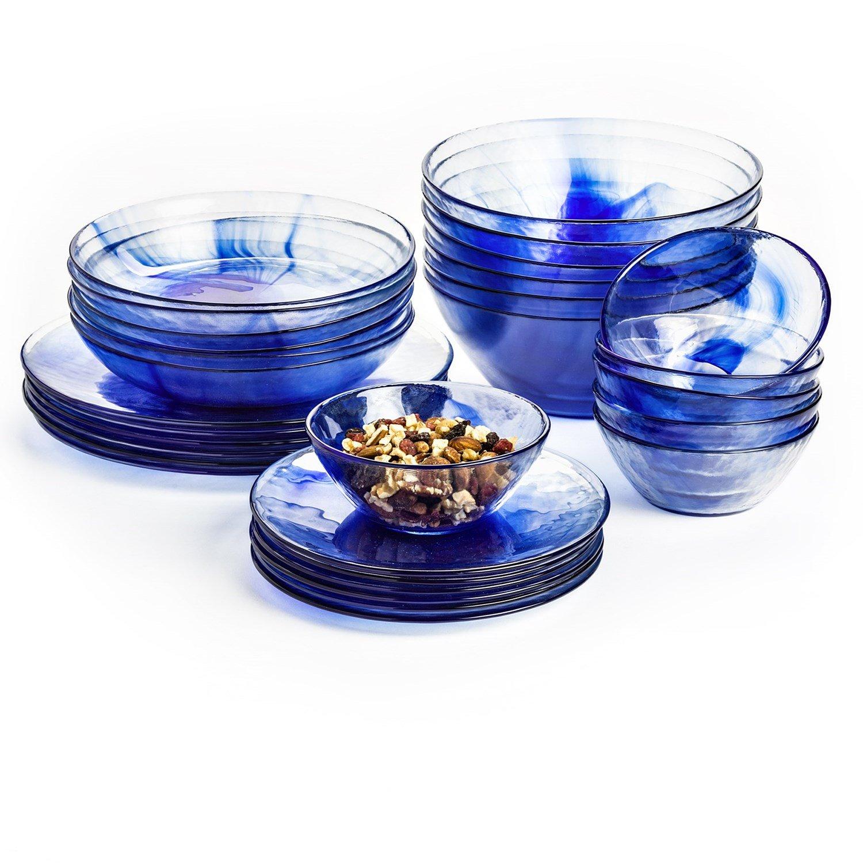 Bormioli Rocco Murano Salad Bowls, Blue, Set of 12