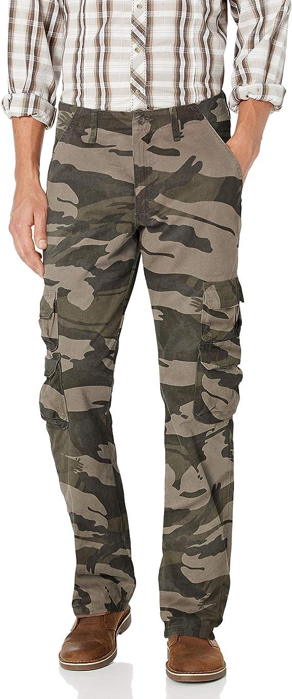 Amazon Com Wrangler Authentics Pantalones Cargo De Sarga Rectos Holgados De Primera Calidad Para Hombre 29 Cintura X 30 Largo Camo De Color Caqui Oscuro Clothing