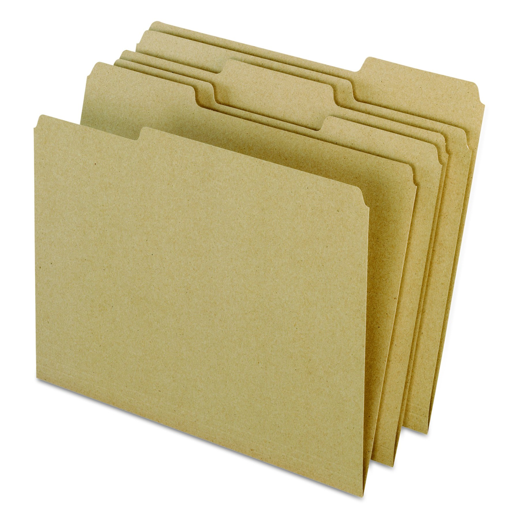 Earthwise by Pendaflex 04342 Recycled File Folders, 1/3 Top Tab, Ltr, Natural (Box of 100) by Pendaflex