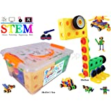 Creative Builder Set - 92 Pieces STEM Building Blocks Toys for Boys and Girls from koolsupply. For 3, 4 and 5+ Year Old Boys & Girls. Fun and STEM Learning Support