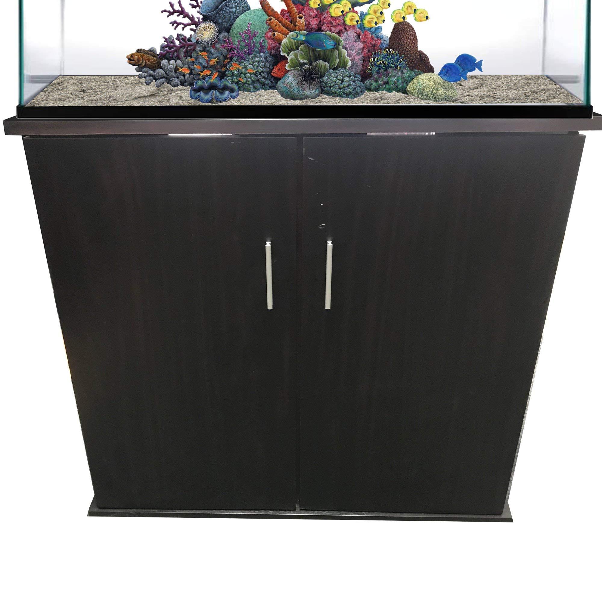 R&J Enterprises 36x12 Espresso Modern Aquarium Cabinet, 55 LBS by R&J Enterprises